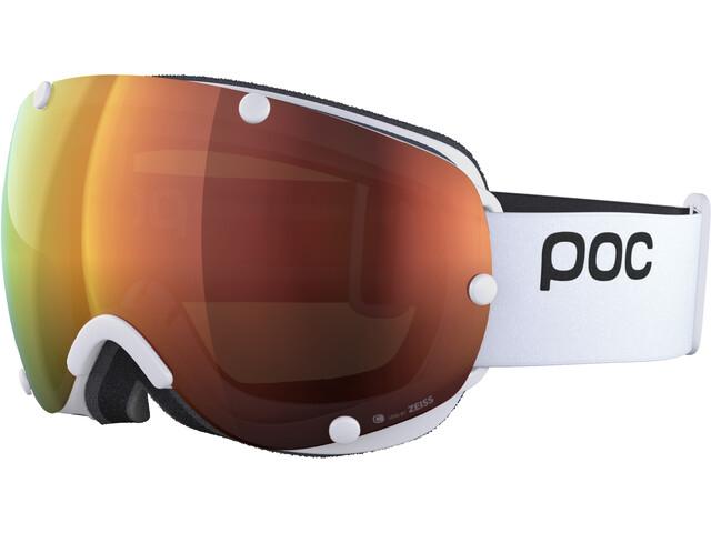 POC Lobes Clarity Lunettes de protection, hydrogen white/spektris orange